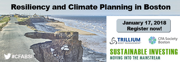 Resiliency and Climate Change Planning in Boston – a timely January event