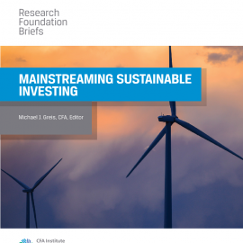 Just published – Mainstreaming Sustainable Investing Research Brief