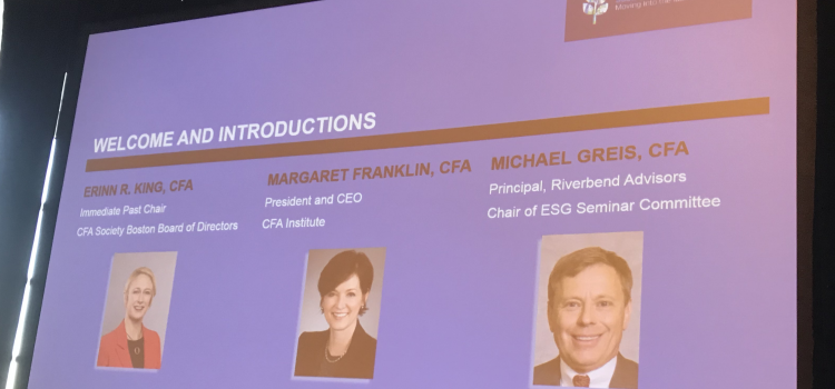 2019 Sustainable Investing seminar wrap-up