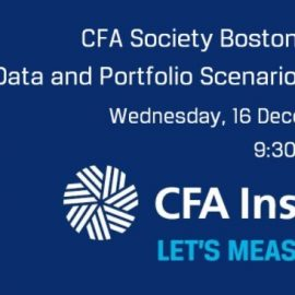Climate Change Investing Series – Climate Data and Portfolio Scenario Analysis – December 16th